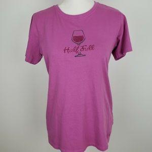 Life is Good Half Full Wine T-Shirt